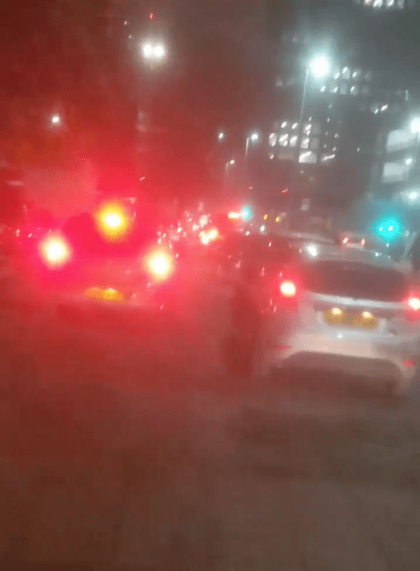Furious cyclist shares video of traffic jam spilling onto city centre pavement, The Manc