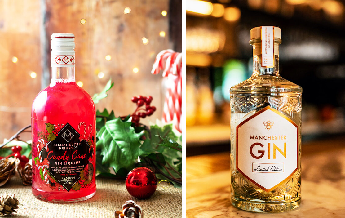 You can now buy 'Candy Cane' and 'Winter Spiced' festive gins for Christmas, The Manc