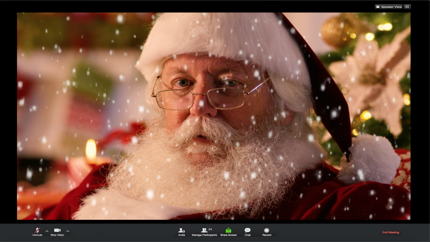 You can get a video call from Santa this Christmas at Chill Factore's virtual grotto, The Manc