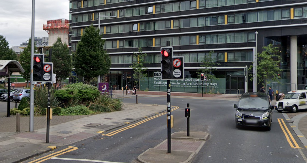 Cameras to be installed near city centre 'no right turn' junction ignored by motorists, The Manc