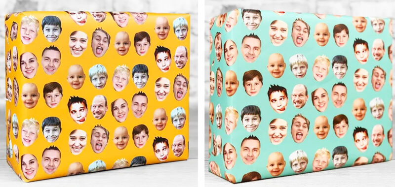 You can now get wrapping paper with your face for your presents this Christmas, The Manc