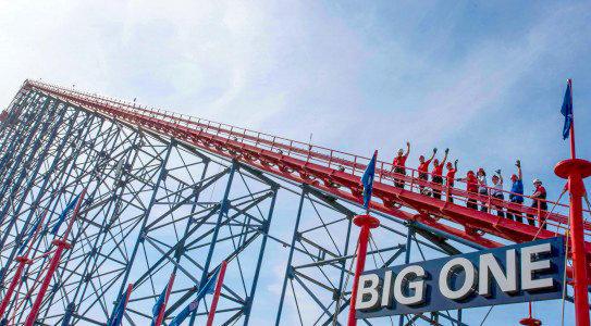 You can take an escorted 235ft climb to the top of the Big One in Blackpool next year, The Manc