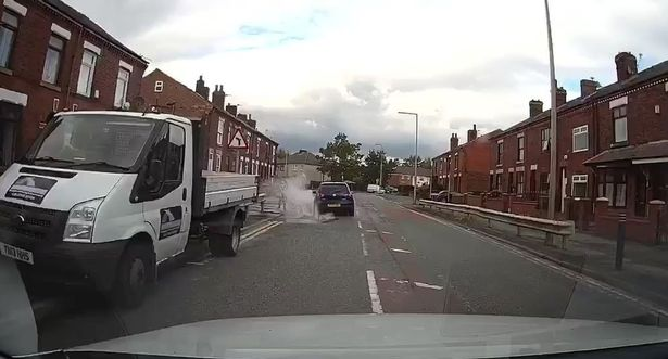 Video of driver 'deliberately' steering into puddle to splash boy goes viral, The Manc