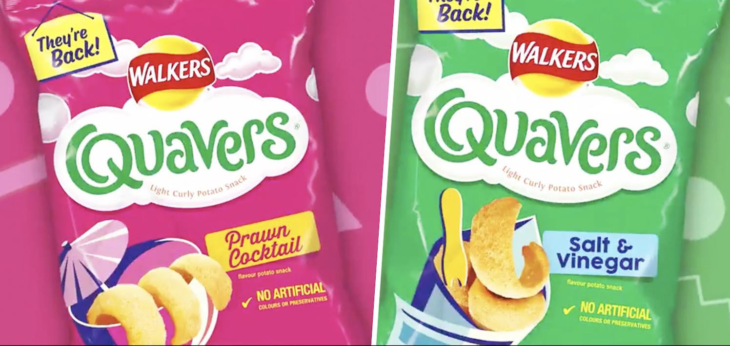 Walkers confirm the return of Prawn Cocktail and Salt & Vinegar Quavers, The Manc