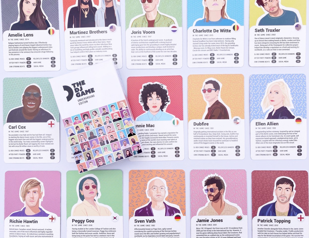 This new card game features all your favourite DJs, The Manc