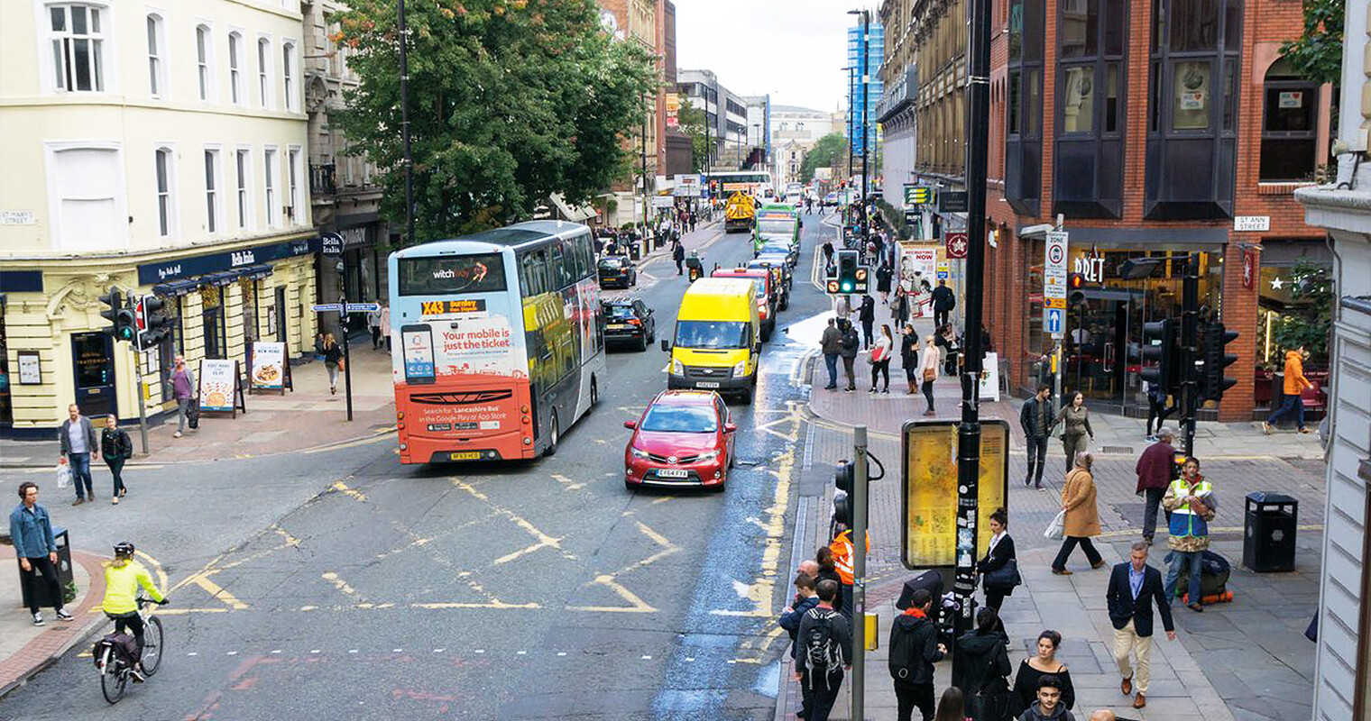 There's calls from some members of the public to ban cars from Manchester city centre entirely, The Manc