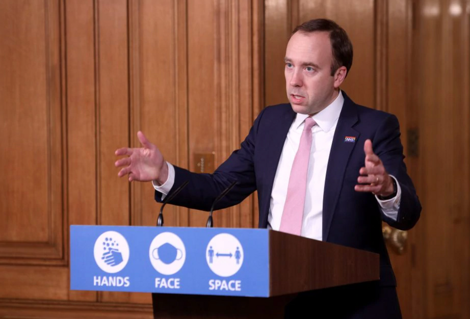 Matt Hancock provides update on tier system following rise in 'new variant' cases nationwide, The Manc