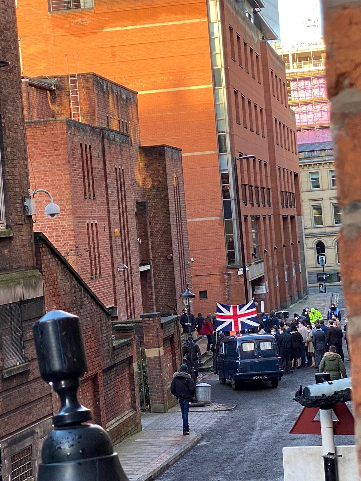 Far-right fascist demonstrators spotted in Manchester for new BBC drama, The Manc