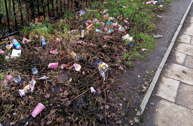 Stretford residents 'ashamed' of area after litter is seen strewn at the side of the road, The Manc