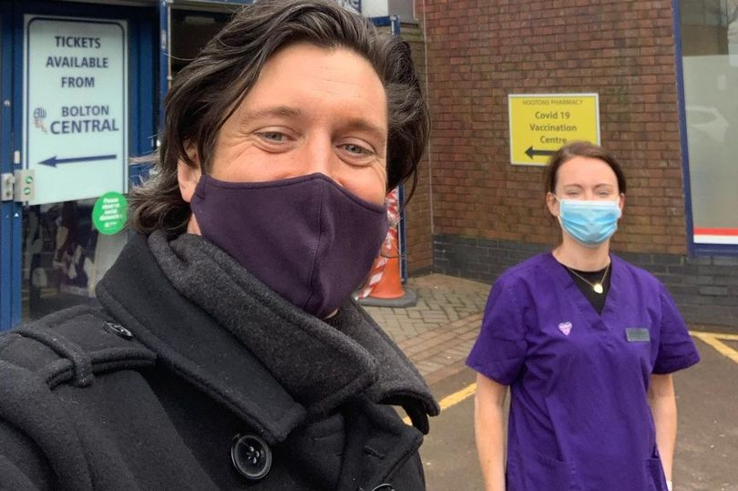 Vernon Kay has been volunteering at a new vaccination centre in Bolton, The Manc