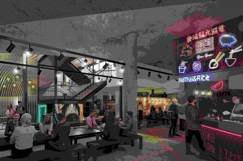 There's a huge Chinese market hall opening underneath Manchester's newest neighbourhood, The Manc