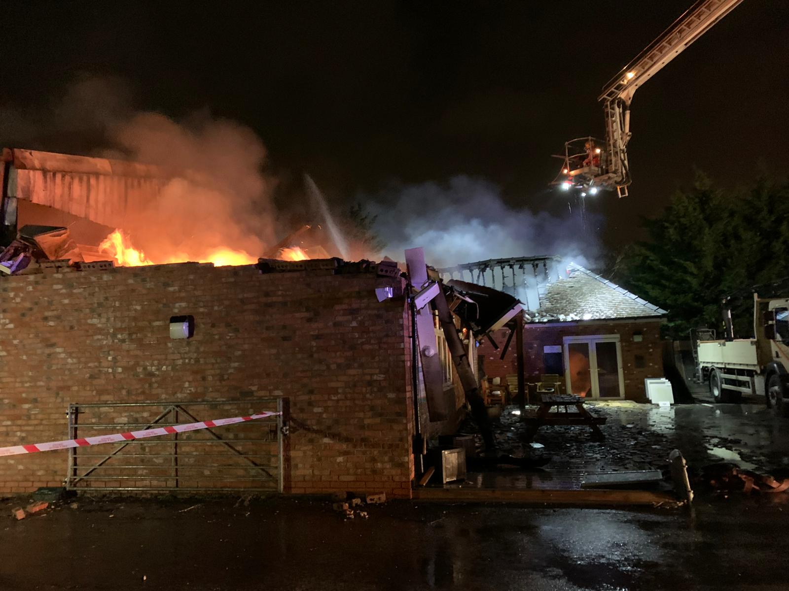 Six fire engines were called to tackle a huge blaze in Stockport last night, The Manc