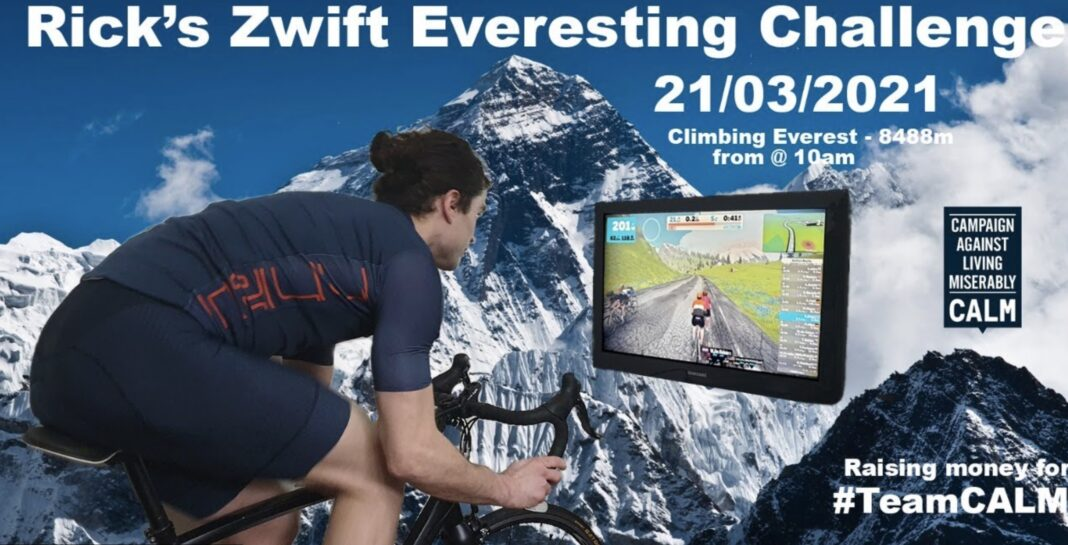 This local cyclist is virtually riding to the summit of Mount Everest in aid of a suicide prevention charity, The Manc