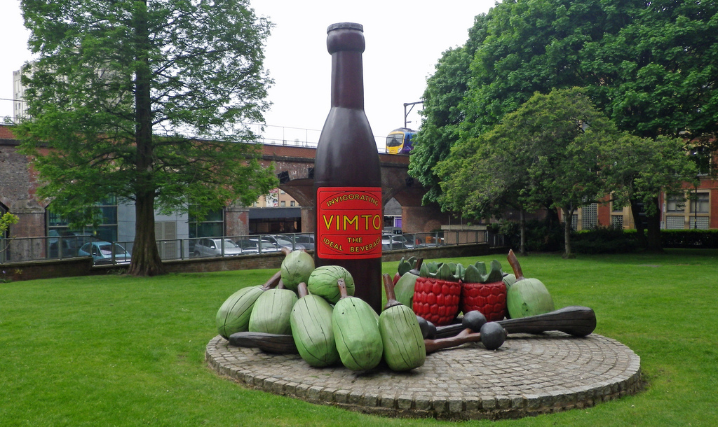 Why is there a Vimto bottle monument in Manchester?, The Manc
