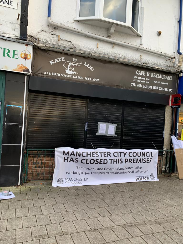 Council close down Burnage cafe at centre of police raid investigation, The Manc