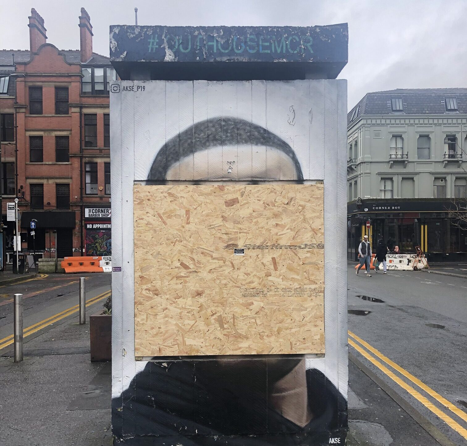 The George Floyd mural in the Northern Quarter has been defaced again, The Manc