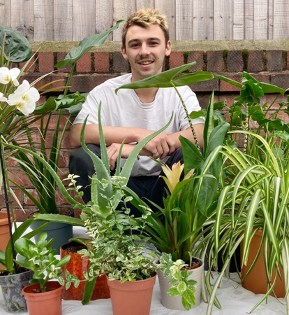 Manchester student starts 'side hustle' selling houseplants to help improve peoples' mental health, The Manc