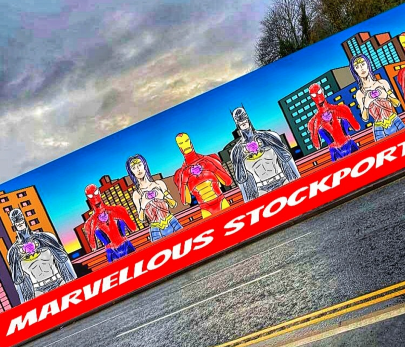 The Stockport Spider-Man is on a mission to make change by creating a 'bridge of hope', The Manc