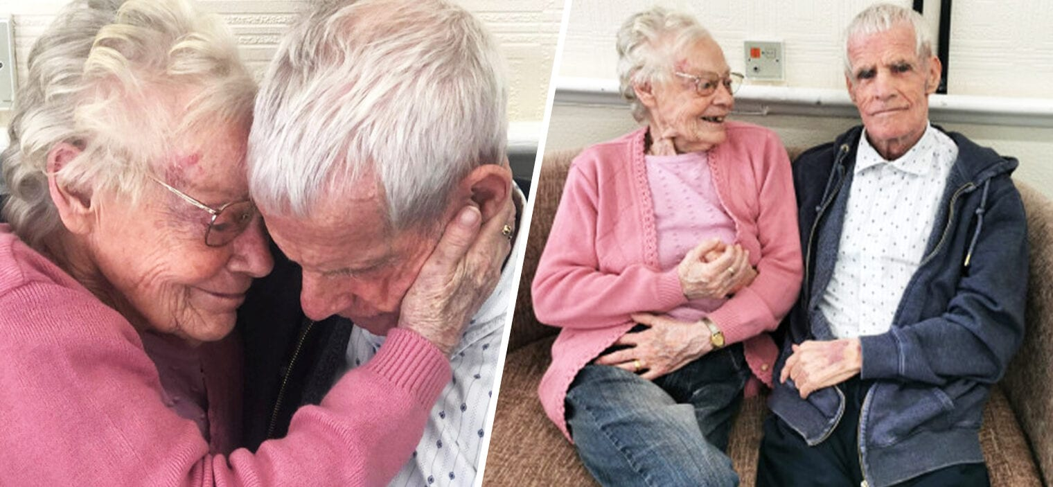Uplifting moment elderly couple reunite after COVID-19 kept them apart for a year, The Manc