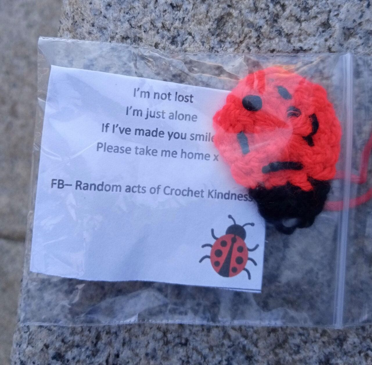 The woman who leaves 'random acts of crochet kindness' to make the people of Salford smile, The Manc