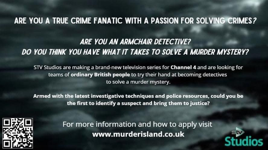Channel 4 need 'true crime fanatics' for new murder mystery TV series, The Manc