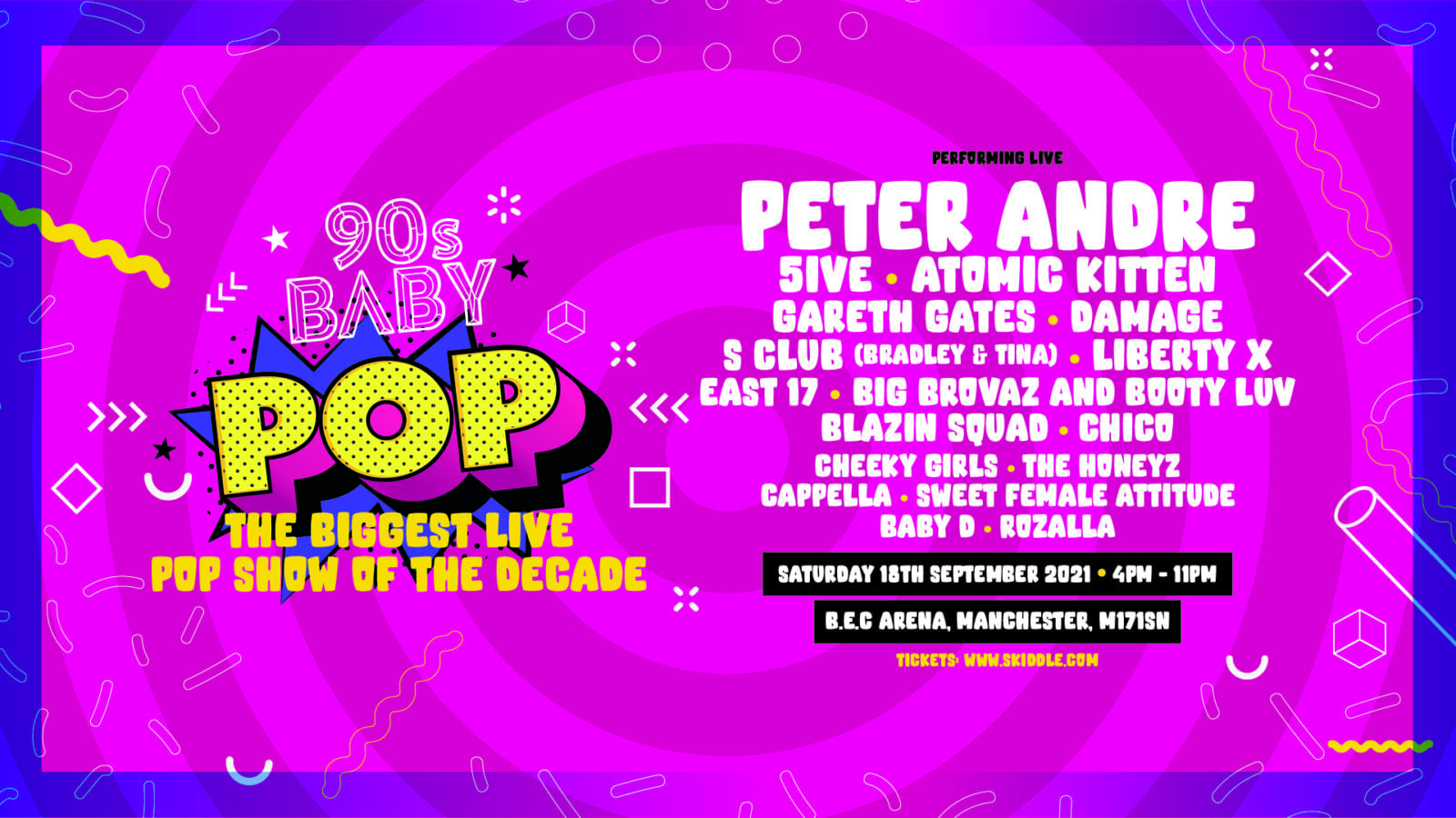 Huge 90s pop 'throwback' concert featuring Peter Andre, 5ive and Atomic Kitten coming to Manchester, The Manc