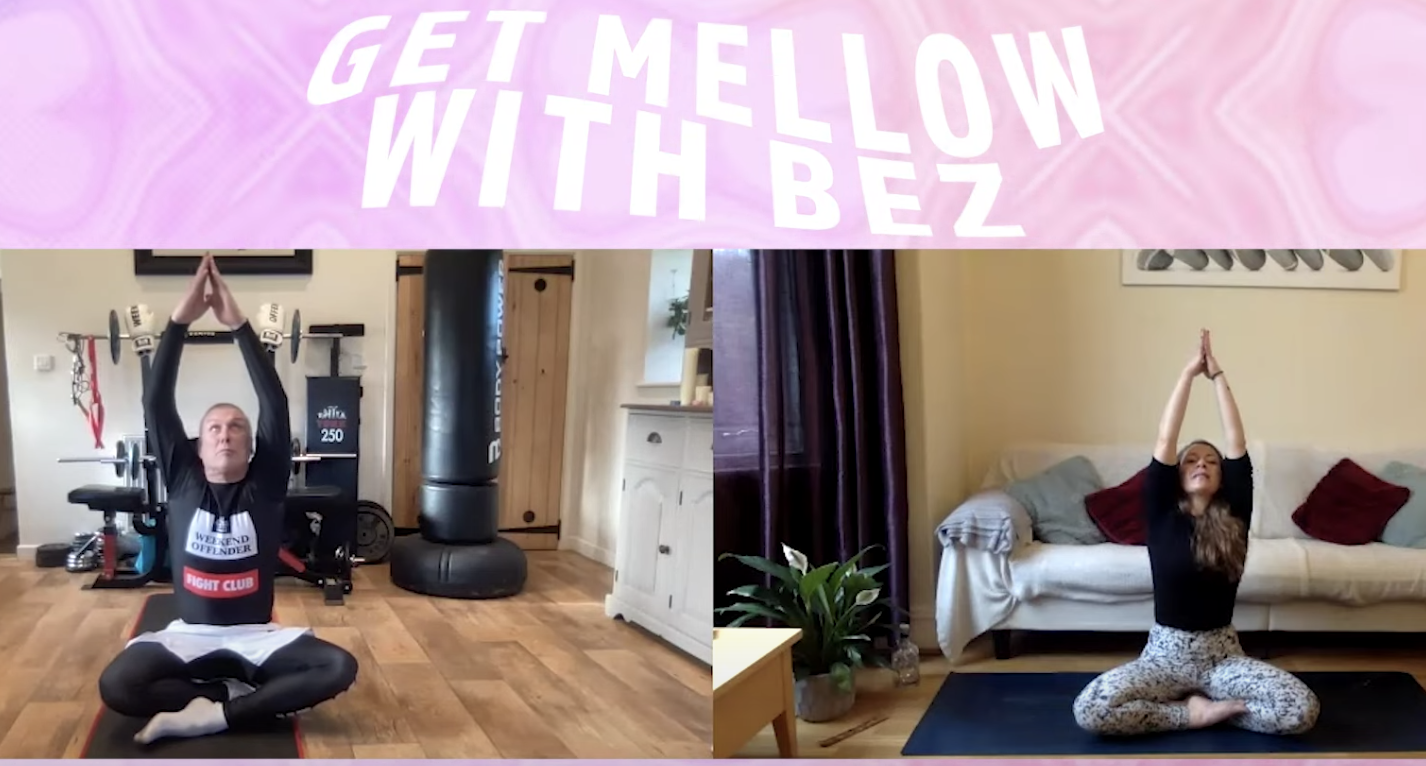 Happy Mondays star streams yoga series on YouTube: 'Get Mellow With Bez', The Manc