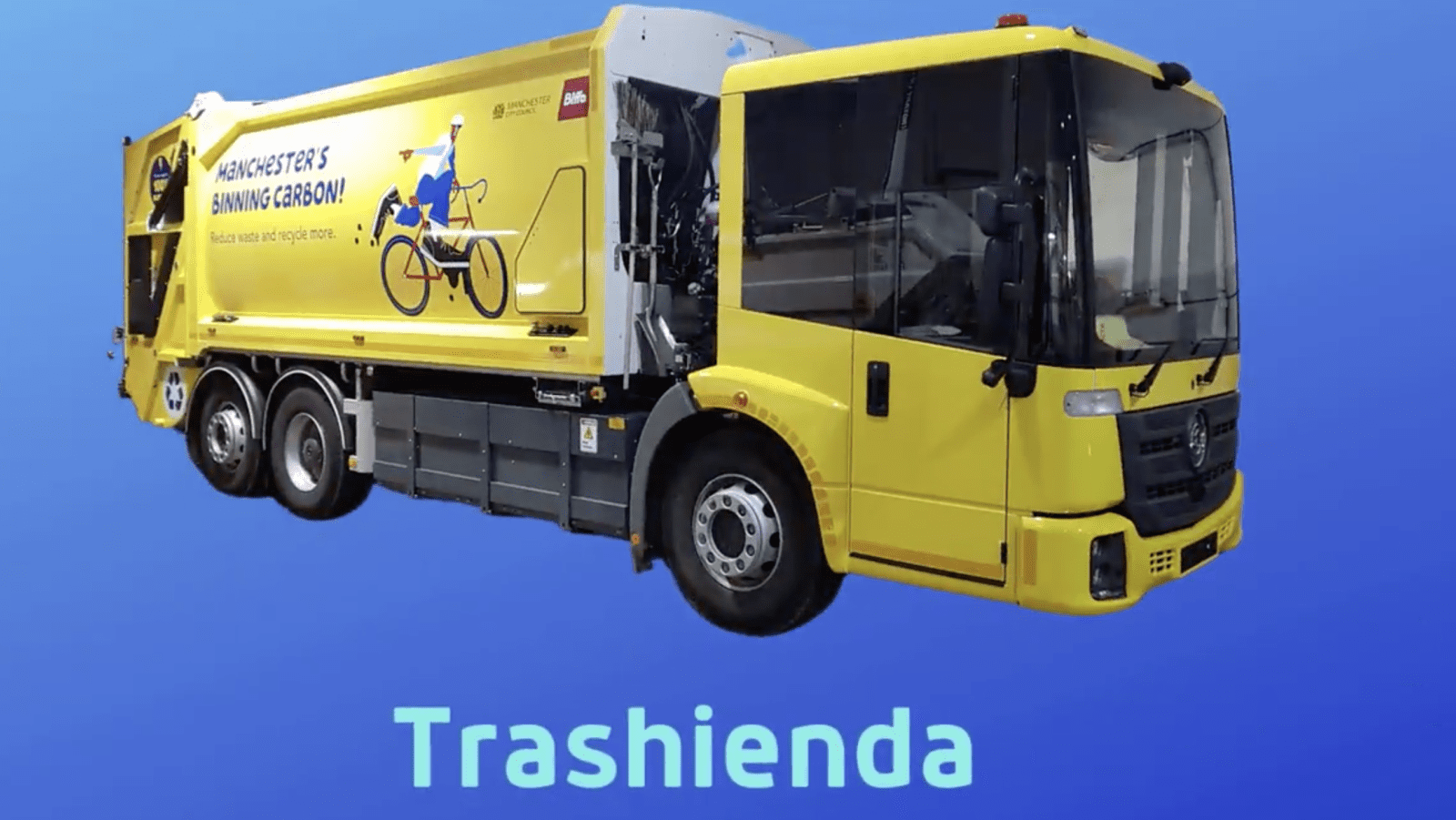 Manchester's new electric bin lorries have been named by the public, The Manc