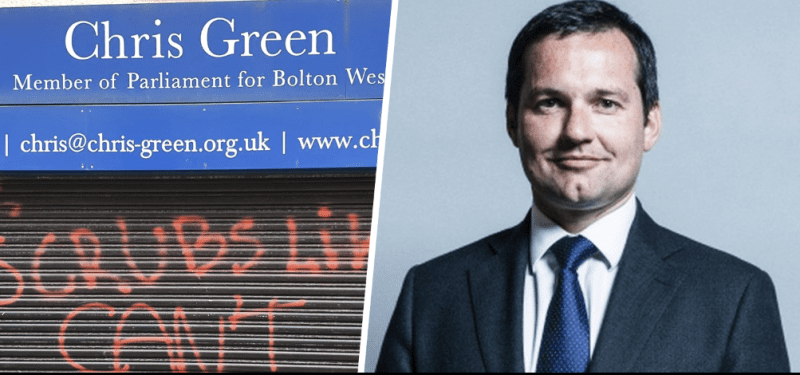 Bolton MP's office vandalised with graffiti, The Manc
