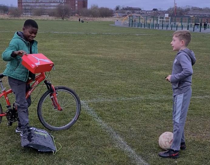Bolton boy 'inspired by Rashford' uses own savings to buy schoolmate new football boots, The Manc