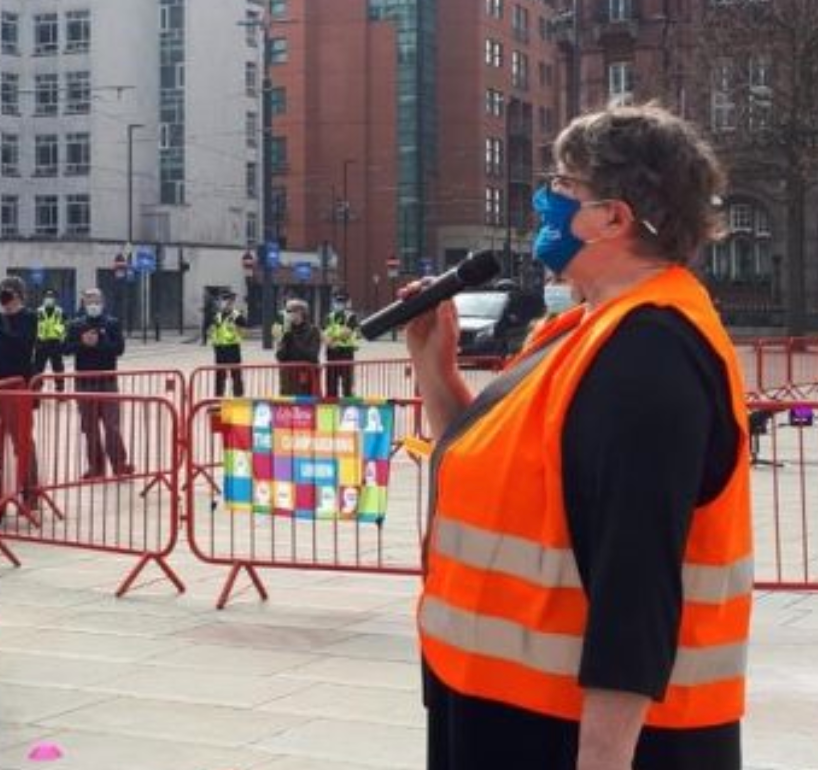 Police to review £10k fine given to NHS pay protestor, The Manc