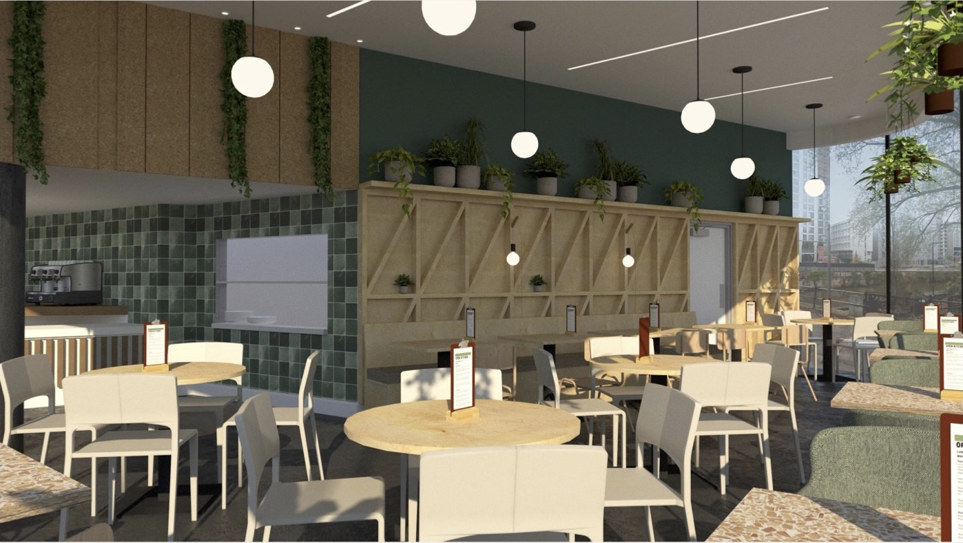 There's a new food waste cafe opening up in Manchester city centre, The Manc