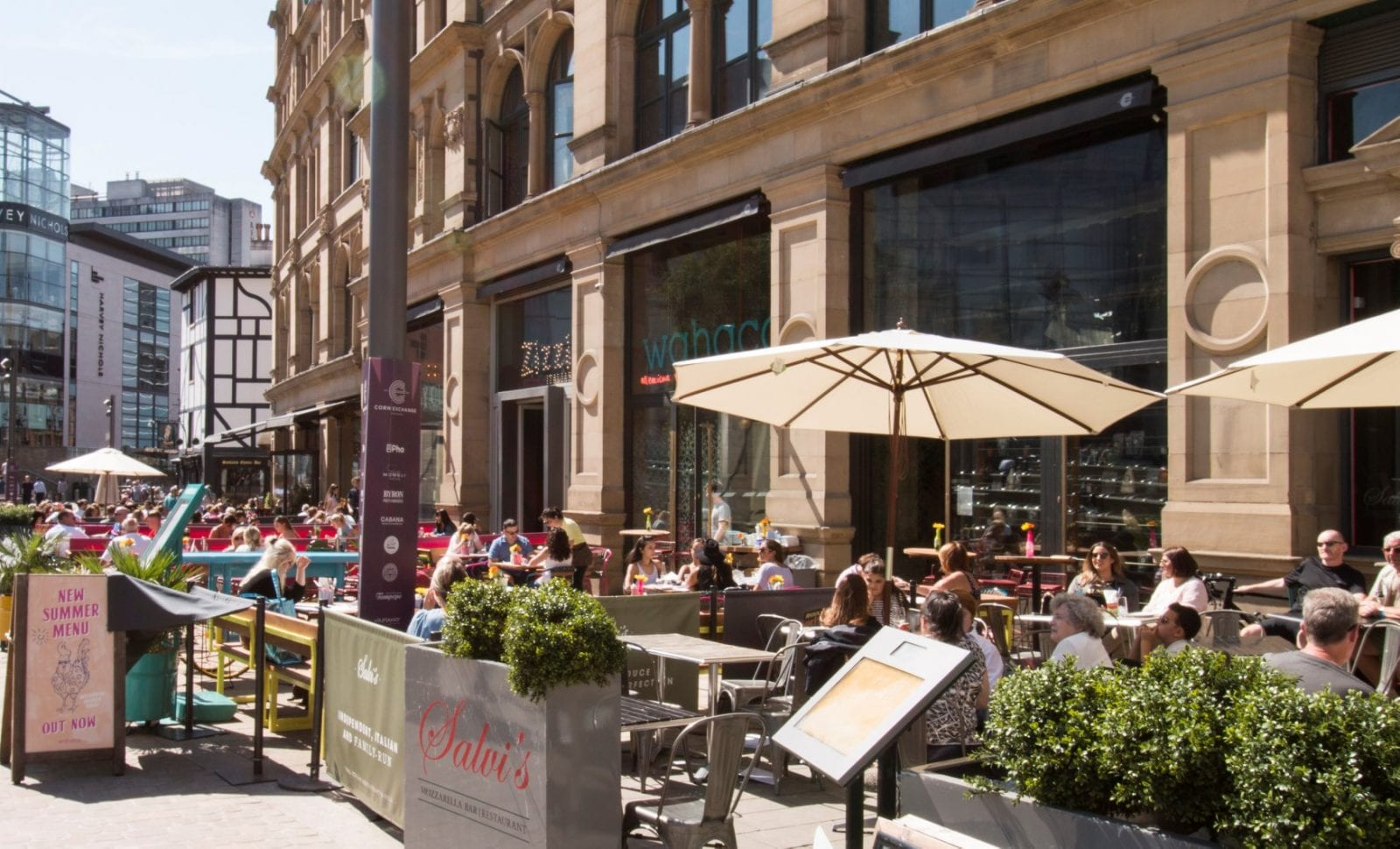 All the bars, cafes and restaurants in Manchester city centre doing walk-ins, The Manc