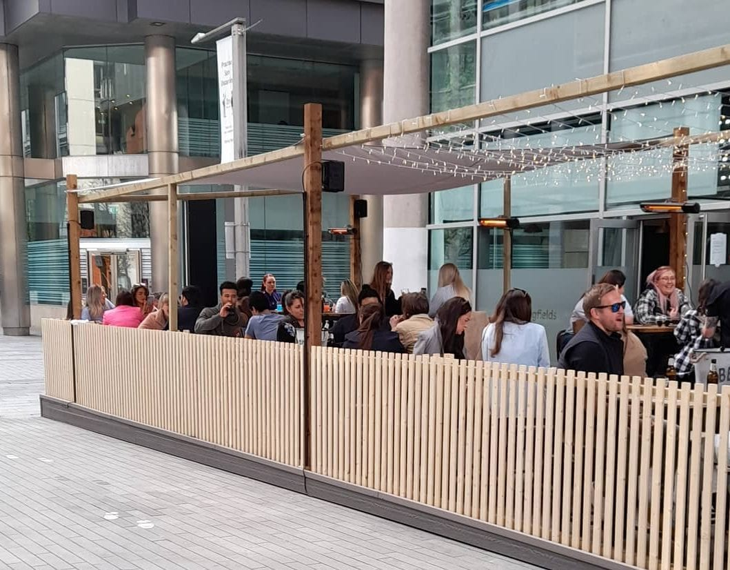 A crazy new cocktail bar and outdoor terrace has popped up in Spinningfields, The Manc