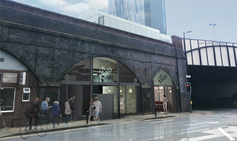 53Two's proposed new building under the arches of Manchester Central