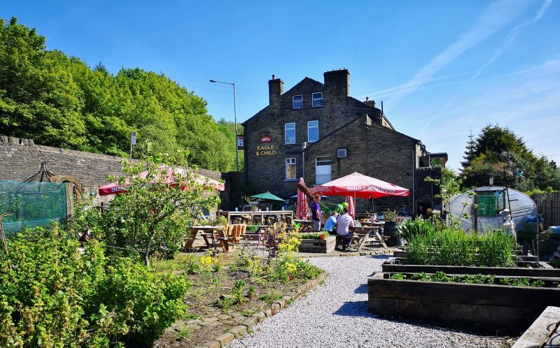 This Greater Manchester 'edible' beer garden has been named one of the best in England, The Manc