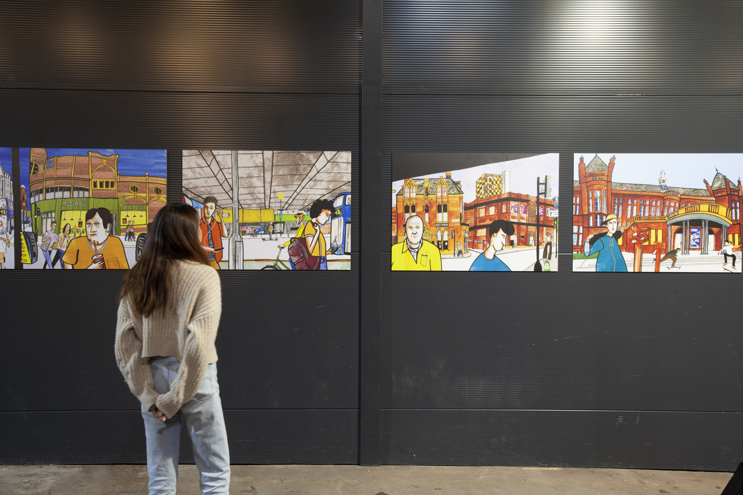 'I've missed you, too': The eye-catching artwork series rejoicing in Manchester's return, The Manc