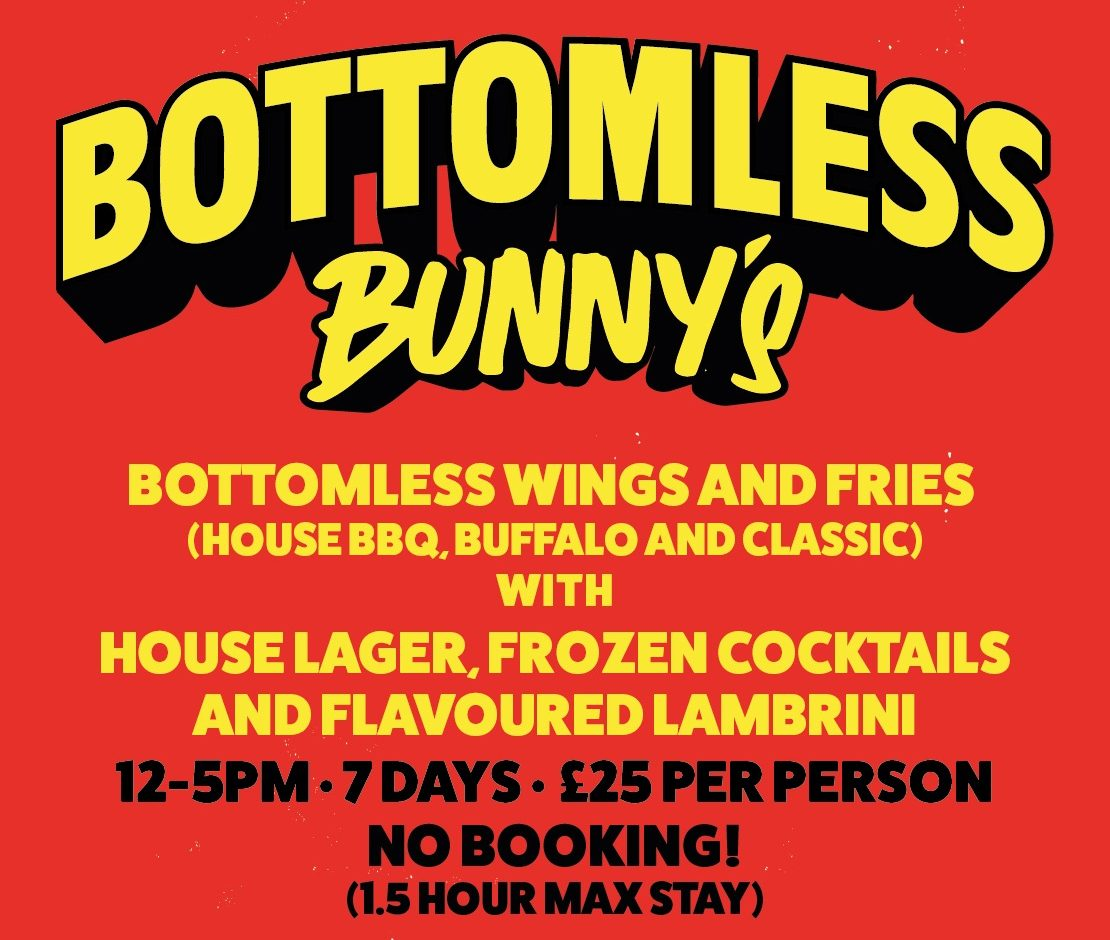 Bunny Jacksons is bringing bottomless booze and chicken wings back next week, The Manc