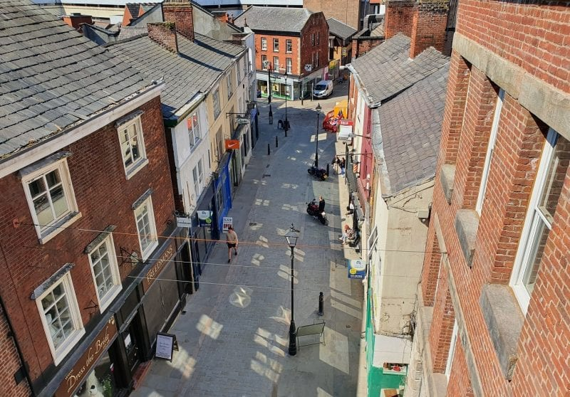 Stockport's 'underbanks' have been improved to welcome shoppers back as lockdown eases, The Manc