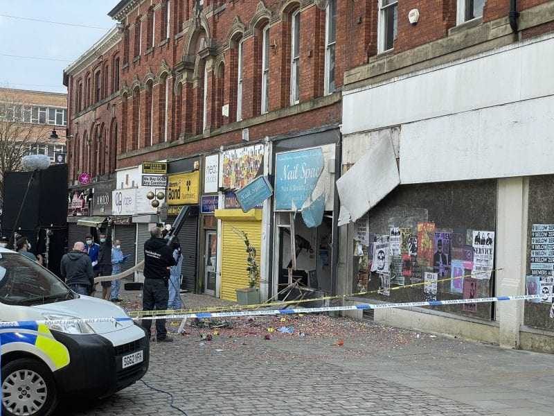 Bolton town centre becomes site of 'bomb explosion' as film crews shoot BBC drama series, The Manc