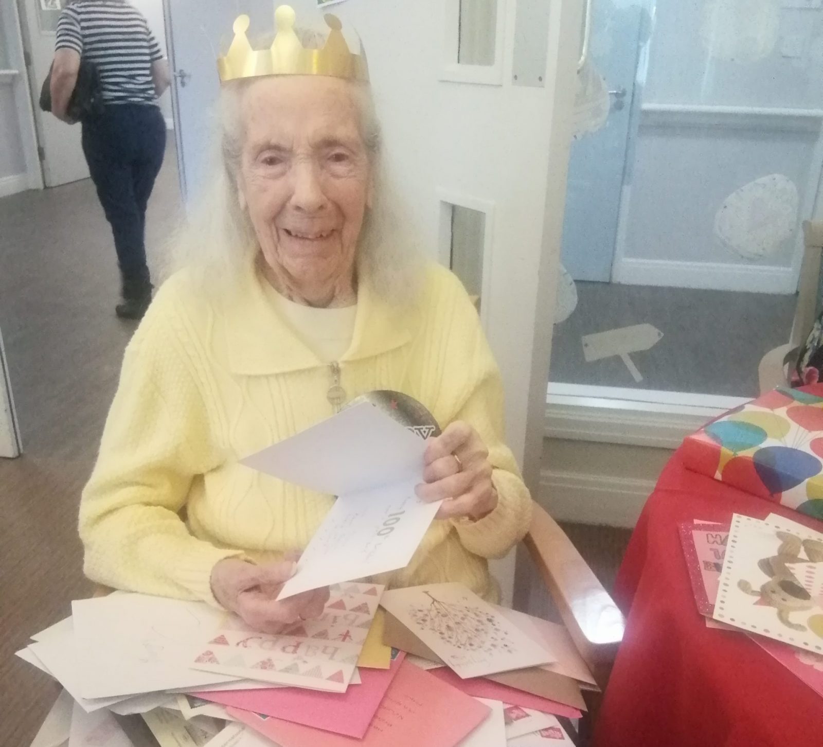 Local community sends hundreds of cards and gifts to celebrate care home resident's 100th birthday, The Manc