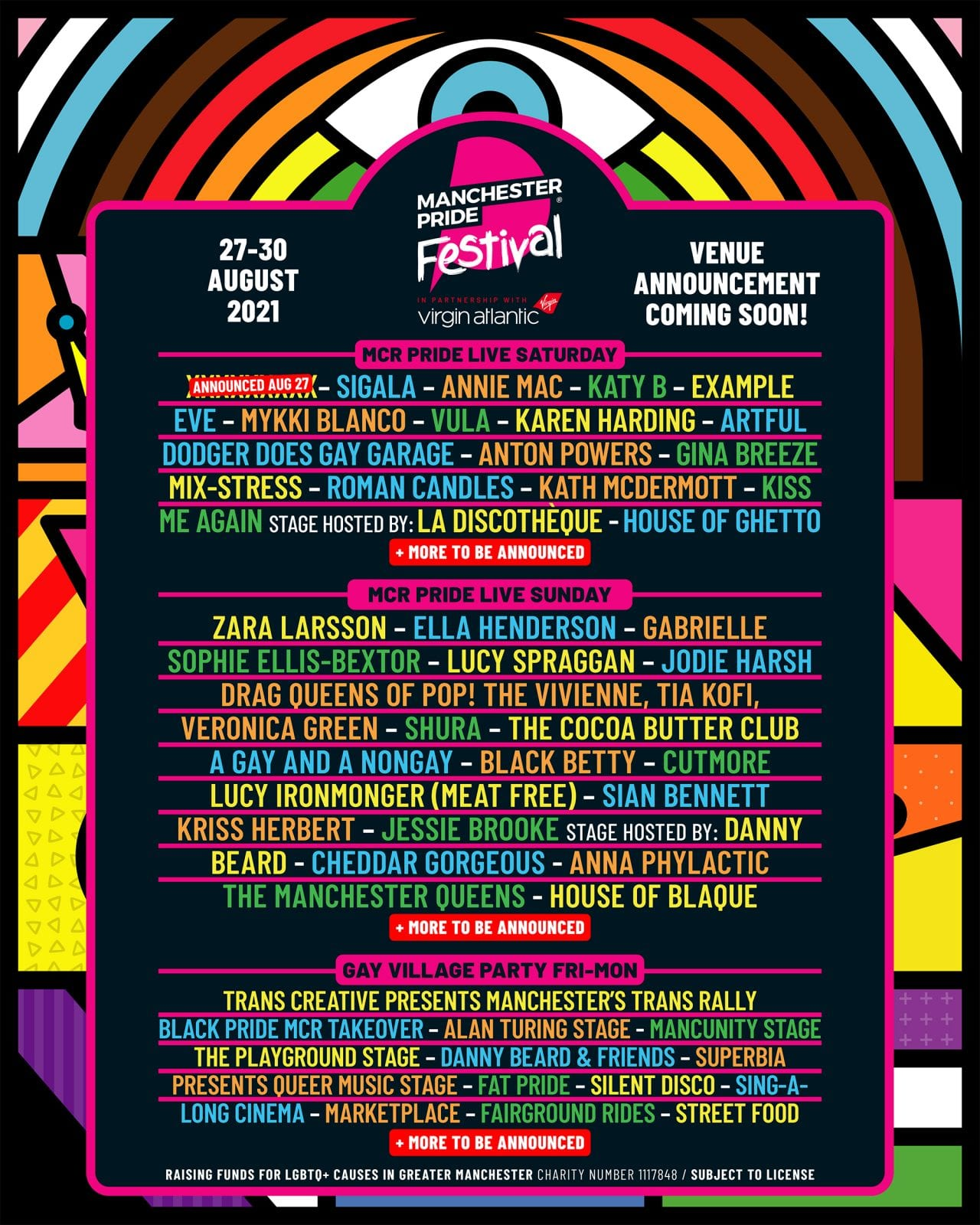 Manchester Pride 2021 lineup unveiled – with 40+ UK and international acts on the bill, The Manc