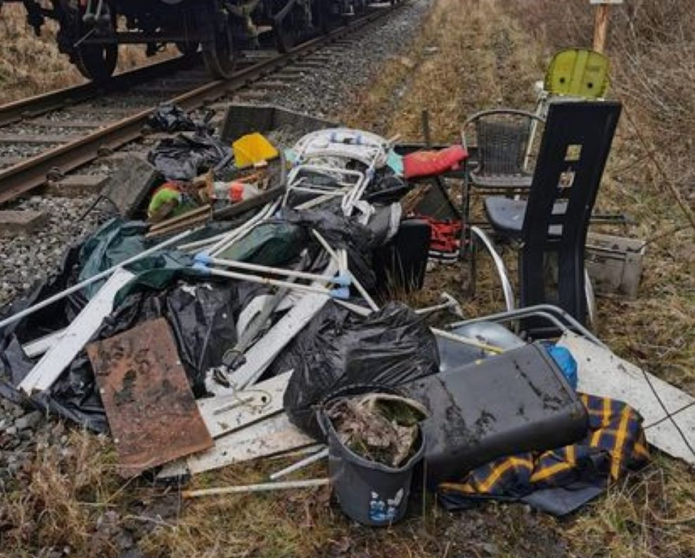 East Lancs Railway forced to spend thousands clearing fly-tipped rubbish ready for reopening, The Manc