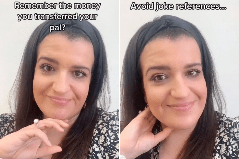 A mortgage adviser has warned against using joke references when sending money to your mates, The Manc