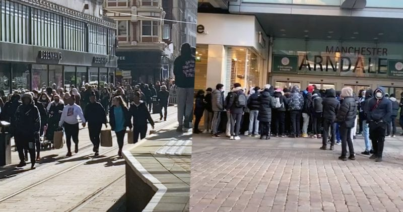 Manchester city centre packed as non-essential retail and outdoor hospitality returns, The Manc