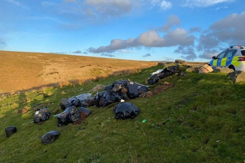 Huge bags of cannabis waste and growing equipment found dumped at popular Lancashire beauty spot, The Manc