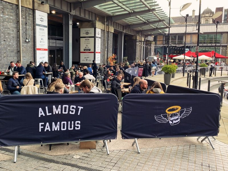 Almost Famous is now taking al fresco bookings at Great Northern, The Manc