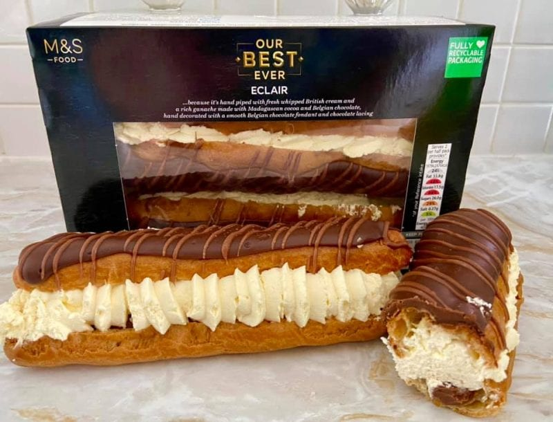 M&S is selling a new 'best ever' chocolate eclair and it's seven inches long, The Manc