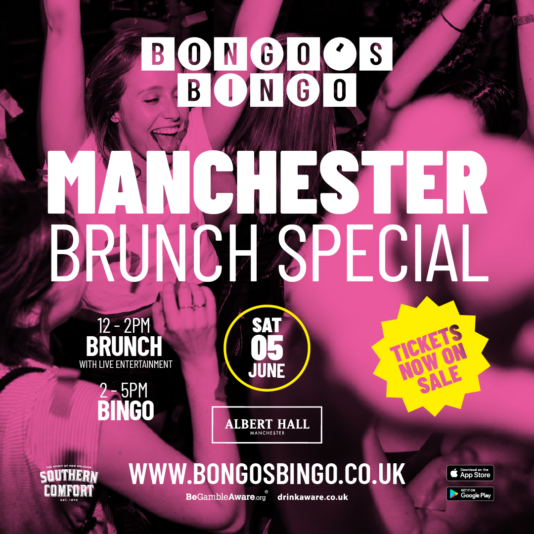 Bongo's Bingo is coming back to Manchester's Albert Hall for a 'brunch special' next month, The Manc