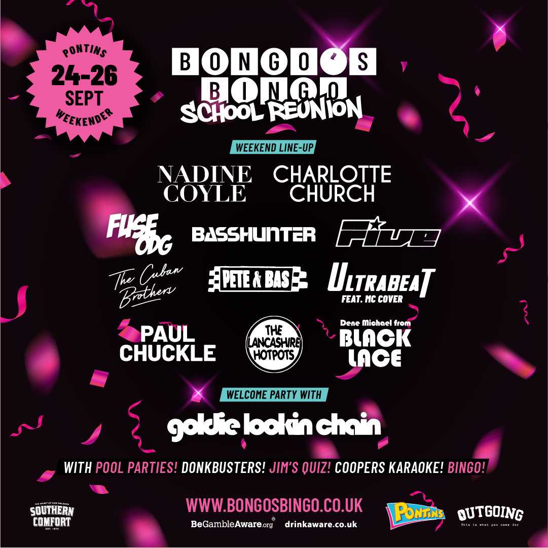 Bongo's Bingo announces new 'school reunion' event and the lineup is unbelievable, The Manc